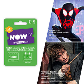 NOW TV Movies 2 Month Sky Cinema Pass