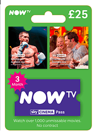 NOW TV Movies 3 Month Pass Gifts