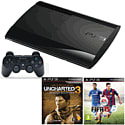 PlayStation 3 500GB Console with FIFA 15, Uncharted 3 Game Of The Year Edition & DualShock 3 PlayStation 3