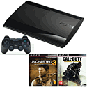PlayStation 3 500GB Console with Call of Duty Advanced Warfare, Uncharted 3 Game of the Year Edition & DualShock 3 PlayStation 3