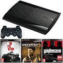 PlayStation 3 500GB Console with The Evil Within, Wolfenstein: The New Order, Uncharted GOTY & DualShock 3 PlayStation 3