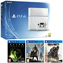 White PlayStation 4 with Destiny, Alien Isolation & Call of Duty Advanced Warfare PlayStation 4