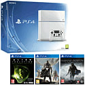 White PlayStation 4 with Destiny, Alien Isolation & Middle Earth Shadow of Mordor PlayStation 4