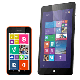 Microsoft Linx 8 Inch Tablet & Nokia Lumia 530 Phone (Orange) Pack Electronics