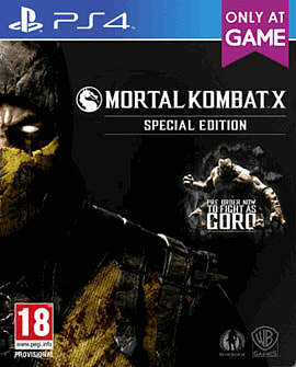 Mortal Kombat X: Special Edition including Goro DLC - Only at GAME PlayStation 4