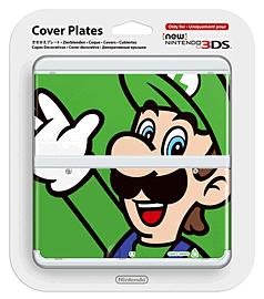 New 3DS Cover Plate - Luigi Accessories