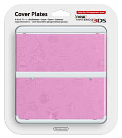 New 3DS Cover Plate - Mario (Pink) Accessories