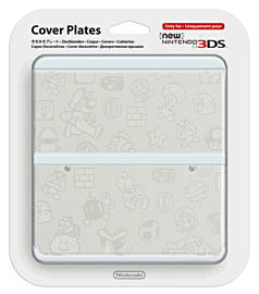 New 3DS Cover Plate - Mario (White) Accessories