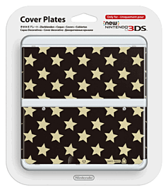 3DS Cover Plate - Black Stars Accessories
