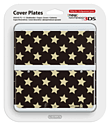 New 3DS Cover Plate - Black Stars Accessories