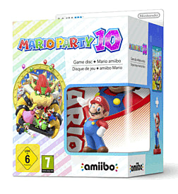 Mario Party 10 with Classic Collection Mario amiibo Wii U