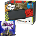 New Nintendo 3DS Black with Legend of Zelda: Majora's Mask 3D Nintendo 3DS