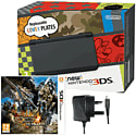 The New Nintendo 3DS Black with Monster Hunter 4 Ultimate and GAMEware Nintendo 3DS AC Adaptor Nintendo 3DS