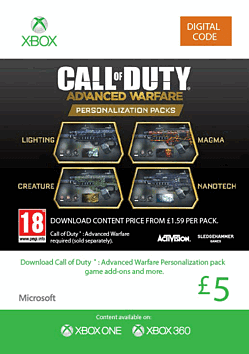 Call Of Duty Advanced Warfare: Personalisation Pack Xbox Live