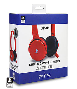 CP- 01 Stereo Gaming headset for PlayStation 3 - Red Accessories