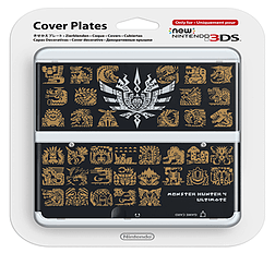 New 3DS Cover Plate - Monster Hunter 4 Ultimate (Black) Accessories