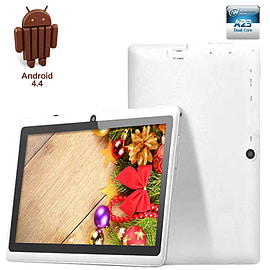 7 inch Google Android 4.4 Kitkat Dual Camera Wi-Fi 3G Tablet All Winner A23 White Tablet