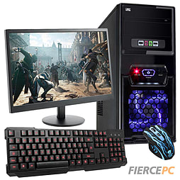 Fierce Savage Quad-Core Gaming PC Bundle (includes Gaming Keyboard Gaming Mouse 21.5 Monitor) PC