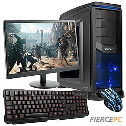 Fierce Shotgun Quad-Core Gaming PC Bundle (includes Gaming Keyboard Gaming Mouse 21.5 Monitor) PC