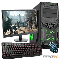 Fierce Sultan Dual-Core Gaming PC Bundle (2GB graphics Gaming Keyboard Mouse 21.5 Monitor) PC