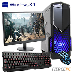 Fierce Savage Quad-Core Gaming PC Bundle (includes Gaming Keyboard/Mouse 21.5 Monitor Win 8.1) PC