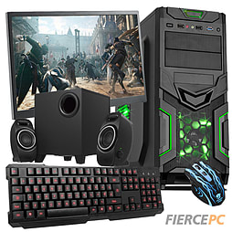 Fierce Sultan Gaming PC Bundle (Intel Pentium G3220 3GHz CPU GTX 750Ti 2GB Graphics 8GB RAM 1TB) PC