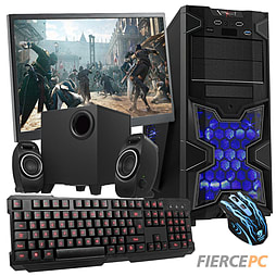 Fierce Invincible Quad-Core Gaming PC Bundle (Athlon X4 860K 3.7GHz CPU R7 240 2GB 8GB RAM 1TB) PC
