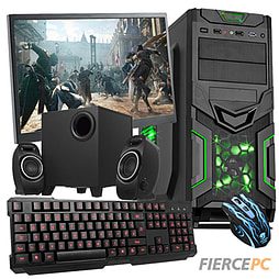 Fierce Savage Quad-Core Gaming PC Bundle (A8-6600K 3.9GHz CPU 8570D Graphics 8GB RAM 1TB) PC