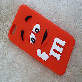 RED M & M CHOCOLATE BEAN SILICONE CASE FOR IPHONE 6 4.7 Mobile phones