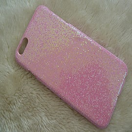 LIGHT PINK GLITTER SPARKLY HARD CASE FOR IPHONE 6 PLUS 5.5 Mobile phones