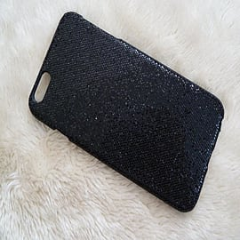 BLACK GLITTER SPARKLY HARD CASE FOR IPHONE 6 PLUS 5.5 Mobile phones