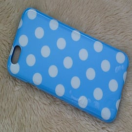 LIGHT BLUETPU DOTS CASE FOR IPHONE 6 Mobile phones