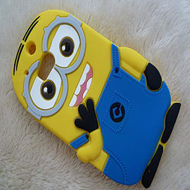 2 EYE MINION SILICONE CASE TO FIT M8 Mobile phones