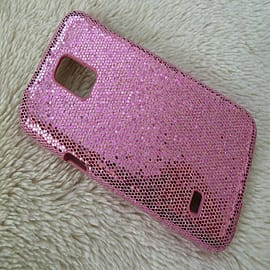 LIGHT PINK GLITTER SPARKLY HARD CASE FOR SAMSUNG S5 MINI Mobile phones
