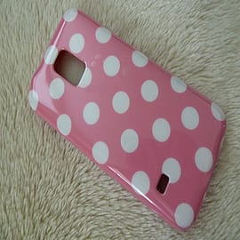 LIGHT PINK TPU DOTS CASE TO FIT S5 MINI Mobile phones