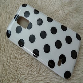 WHITE TPU DOTS CASE TO FIT S5 MINI Mobile phones