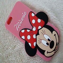 DISNEY BIG FACE MINNIE MOUSE SILICONE CASE TO FIT IPHONE 6 Mobile phones