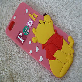 DISNEY STANDING WINNIE THE POOH SILICONE CASE TO FIT IPHONE 6 Mobile phones