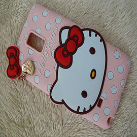 LIGHT PINK KITTY SILICONE TO FIT NOTE 4 Mobile phones