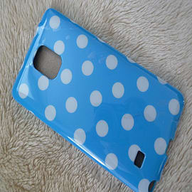 LIGHT BLUE TPU DOTS CASE TO FIT NOTE 4 Mobile phones