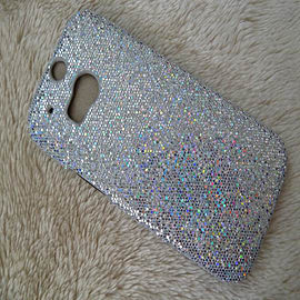 SILVER GLITTER HARD CASE TO FIT M8 Mobile phones