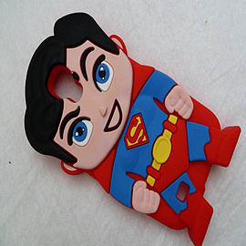 RED SUPERMAN SILICONE TO FIT S4 Mobile phones