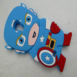 LIGHT BLUE CAPTAIN AMERICA SILICONE CASE TO FIT S4 Mobile phones