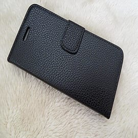 BLACK LEATHER FLIP CASE TO FIT IPHONE 6 Mobile phones
