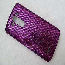 PURPLE GLITTER HARD CASE TO FIT LG G3 Mobile phones