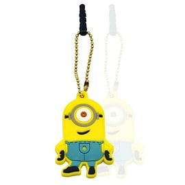 Anti-dust Plug Stopper Earphone Jack 3.5mm Despicable Me Smile One Eye Minion Soft Silicone for iPho Mobile phones