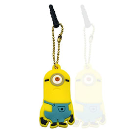 Anti-dust Plug Stopper Earphone Jack 3.5mm Despicable Me Unhappy One Eye Minion Soft Silicone for iP Mobile phones