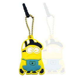 Anti-dust Plug Stopper Earphone Jack 3.5mm Despicable Me Hat Minion Soft Silicone for iPhone and oth Mobile phones