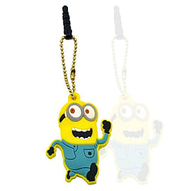 Anti-dust Plug Stopper Earphone Jack 3.5mm Despicable Me Running Minion Soft Silicone for iPhone and Mobile phones