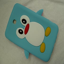 LIGHT BLUE SILICONE PENGUIN CASE COVER FOR GALAXY TAB 3 7 P3200 Mobile phones